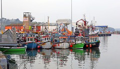 Fishing boats, Dunmore East, County Waterford, Ireland on a hazy April evening. (Eamonn Bolger (Ireland)) Tags: fishingboats dunmoreeast countywaterford ireland trawlers fishingtrawlers fishing