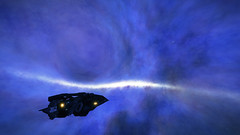 Pyrie Eurk QX-U e2-0 (Distant View in Blue) (Cmdr Hawkshadow) Tags: distantworlds2 elitedangerous aspexplorer nebula blackhole