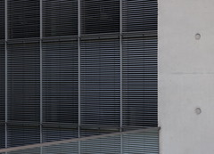 untitled (Binacat) Tags: canon eos 750d digital color berlin architecture concrete metal paulloebehaus steel building grey white square stripes glass blind window pattern geometry