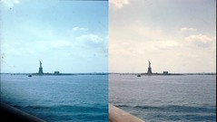 Batch E 0044 (dizzygum) Tags: vintage stereo 3d slide images 1960 european trip us to europe new york ny statue of liberty
