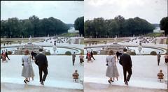 Batch E 0031 (dizzygum) Tags: vintage stereo 3d slide images 1960 european trip us to europe fountain versailles garden