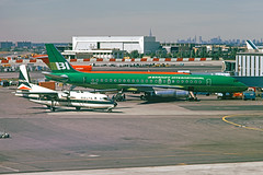 al1517cr (George Hamlin) Tags: new york city john f kennedy international airport jfk delta airlines braniff airways fh227 turboprop dc862 jet airplane airliner aircraft n376ne n1803 flying colors hangar terminal ramp photo deocr george hamlin photography twotone green