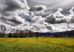 Vosges (denismartin) Tags: denismartin france vosges mountains vosgesmountain hdr cloud sky remiremont voieverte cycling travel weather spring flower yellow