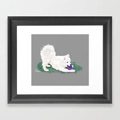 RoninArtPrintSoc6 (National Samoyed Rescue DesignsbyLee) Tags: samoyedpuppy puppy play playpose dog dogart