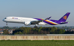 THG_A359_HSTHH_BRU_APR2019 (Yannick VP) Tags: civil commercial passenger pax transport aircraft airplane aeroplane jet jetliner airliner tg thg thai airways airbus a350 350900 a359 hsthh thanto brussels airport bru ebbr belgium be europe eu april 2019 aviation photography planespotting airplanespotting approach landing finals runway rwy 25l