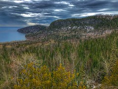 Grand Portage (Cindy's Here) Tags: myview grandportage minnesota usa trees landscape clouds hdr iphone 3 52in2019challenge