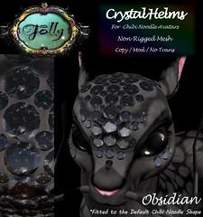 Folly_NoodleCrystalHelmAd_Obsidian (Cane's Folly SL) Tags: cane sutter second life chibi noodle avatars