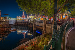 Bridge to Pixar Pier Disneyland (jimisPHOTOS) Tags: disney disneyland travel themepark themeparks traveling tone tones california anaheim waltdisneyworld color colors night