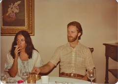 After Dinner Guests, 1978 (STUDIOZ7) Tags: 1970s 70s seventies woman girl smoking smoker cigarette dragging man bearded suburbia