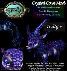Folly_NoodleMod_CrystalCaveAdIndigo (Cane's Folly SL) Tags: cane sutter second life chibi noodle avatars texture mod crystal cave