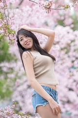 DSC_2721 (Robin Huang 35) Tags: 艾森 eisen 恩愛農場 拉拉山 櫻花 sakura 人像 portrait lady girl nikon d850