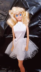 Special Expressions Barbie #4842 from 1989 (VintageZealot) Tags: barbie mattel woolworth exclusive special expressions 4842 1989 80s 1980s wedding day fashion trunk 7237 1991 90s 1990s promenade rose play 1376 1988 european fabric variation vintage retro doll clothing clothes outfit superstar super star china model modelling caucasian blonde plastic snaps halter mini dress slip poofy lace white pumps clutch purse handbag hand bag silver wool worth pink bow 8338