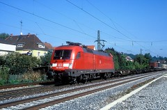 182 024  Ebersbach ( Fils )  24.09.06 (w. + h. brutzer) Tags: ebersbachfils 182 taurus eisenbahn eisenbahnen train trains deutschland germany elok eloks lokomotive locomotive zug db nikon webru analog