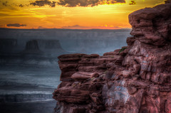 Canyonlands Sunset (donnieking1811) Tags: utah moab canyonlandsnationalpark canyonlands nationalpark park sunset canyon buttes rocks landscape outdoors sky clouds orange hdr canon 60d lightroom photomatixpro