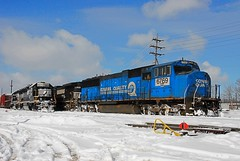 Yes, it is cold outside. 02/07 (THE RESTLESS RAILFAN) Tags:
