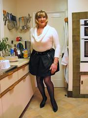 Denisewhirollnckl (fionaxxcd) Tags: crossdresser crossdressing transvestite tranny trannie m2f mtf boygurl blonde hairband blackpatentstiletos blacktulipskirt whiterollnecksweater bangles redlipsbust breatsrednailshoopearrings blackpantyhose blacktights