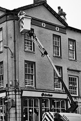 High Up (alison's daily photo) Tags: ulverston cherrypicker building monochrome blackandwhite cmwd cmwdblackandwhite 100xthe2019edition 100x2019 image32100