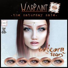 WarPaint @ TheSaturdaySale - Unicorn Tears (Mafalda Hienrichs) Tags: warpaint war paint unicorn tears omega catwa applier glitter makeup cosmetics mainstore promotion saturday sale
