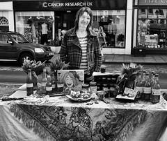 Smiles (Bone Setter) Tags: ludlow market seller lady