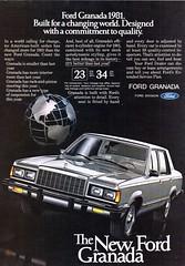 1981 Ford Granada Sedan USA Original Magazine Advertisement (Darren Marlow) Tags: 1 8 9 19 81 1981 f ford g granada s sedan c car cool collectible collectors classic a automobile v vehicle u us usa united states american america 80s