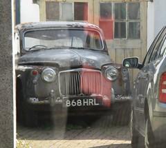 1960 Rover P4 (occama) Tags: 868hrl 1960 rover p4 old british car cornwall uk scrap cornish grey