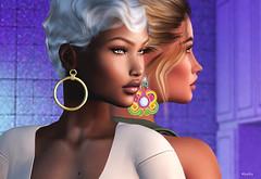 Daughter & mum (MoniKa Mearkus) Tags: second life virtual world game 3d portrait family foxcity girl woman beauty skin headshot catwa earrings doux hair