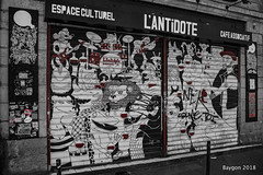 Red wine is the antidote (ericbaygon) Tags: tag graffiti café bar bistro nikon d750 bordeaux france antidote monochrome monochromia culturel dessin peint peinture art artiste