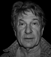 Michael Brandon at the Southwark Playhouse in Other People's Money (Ibsan73) Tags: dempseyandmakepeace michaelbrandon actor blackandwhite portrait
