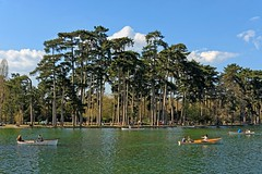 Paris / Bois de Boulogne / Lac Inférieur / Boats (Pantchoa) Tags: paris france nature boisdeboulogne parc forêt lac lacinférieur eau nuages pins barques rameurs personnes gens loisir promenade bateau printemps navigation transport rames paysage relaxant reposant