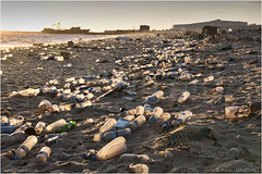 Losing Your Bottle (channel packet) Tags: mauritania beach shore plastic waste bottles pollution environment davidhill