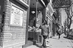 "Shot from the hip: James Street, Hamilton (Xsbmrnr (Please read profile before ""following"") Tags: blackandwhite bandw downtown 35mm 35mmfilm film filmphotography hamilton hamiltonontario hc110 jamesstreethamilton kodak olympus olympusom1 om1 people street streetphotography hip tmax tmax400 urban urbanphotography zuiko zuiko28mm"