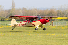 G-AXUC Piper PA-12 Super Cruiser (amisbk196) Tags: airfield aircraft headcorn amis flickr 2019 unitedkingdom kent uk lashenden gaxuc piper pa12 super cruiser