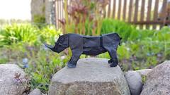 Rhino by Tomasz Krawcyk (Tomasz Krawczyk Origami) Tags: origami rhino art paper tomaszkrawczyk fold craft