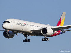 Asiana Airlines A350-900 F-WZFJ (HL8360) (birrlad) Tags: toulouse tls airport france aircraft aviation airplane airplanes airline airliner airlines airways arrival approach arriving finals landing runway airbus a350 a359 a350900 a350941 asiana fwzfj hl8360 hamburg painting