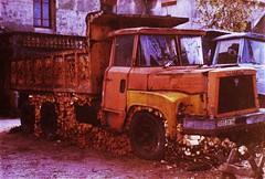 Willème - AEC LD 210 Montlhéry (91 Essonne) 1983a (mugicalin) Tags: casse scrapyard junkyard rustycar epave abandonedcar schrottplatz cimetièresdevoitures truck oldtruck camion frenchtruck camionfrançais camionbenne dumptruck orange camionorange bois tasdebois aec willème willèmeaec 3095 dv 94 valdemarne 91 monthléry essonne années80 1983 6x6 6x6truck camion6x4 10fav
