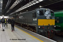 074 at Connolly, 13/4/19 (hurricanemk1c) Tags: railways railway train trains irish rail irishrail iarnród éireann iarnródéireann 2019 generalmotors gm emd 071 074 0650inchicoreconnolly dublin connolly