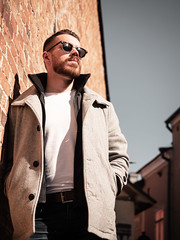 Herman_20190421_1912 (roni.laakso94) Tags: herman turku outdoor finland city sights nature moody yellow orange sunny spring photoshooting model man sunnies sunglasses photography varsinaissuomi forest