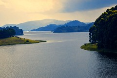 Lake Bunyonyi (Rod Waddington) Tags: africa african afrique afrika uganda ugandan lake bunyonyi water mountains forest forrest trees evening islands landscape clouds nature