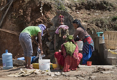 Laundry in Nepal (John D Fielding) Tags: nepal kathmandu women laundry washing wash nikon d810 hires highresolution hirez highdefinition hidef fullformat johnfielding fullframe travel travelling