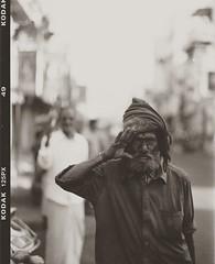 (Jerry501) Tags: kodak plusx monochrome bnw blackandwhite mediumformat 120film stranger travel india trichy street portrait analog film expired kodak125px pentax67