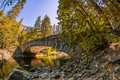 Pohono Bridge Yosemite (PNW-Photography) Tags: yosemite yosemitenationalpark nationalpark river merced bridge pohono pohonobridge forest stream creek water waterscape architecture historic history relic arch structure