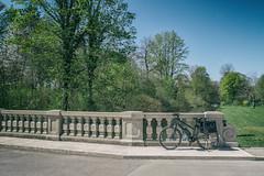 2019 Bike 180: Day 54, April 21 (suzanne~) Tags: 2019bike180 bike bicycle bavaria germany fency bridge