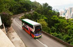 A brave New World - From Tempelogue to Wan Chi. (Longreach - Jonathan McDonnell) Tags: dsc0117aa newworldfirstbus dennis enviro enviro400mmc 15b victoriapeak un6395 3814 newworldfirstbus3814 adl