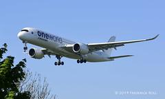 Finnair A350 ~ OH-LWB (© Freddie) Tags: londonheathrow poyle heathrow lhr egll 09l arrivals finnair oneworld airbus a350 a359 ohlwb fjroll ©freddie