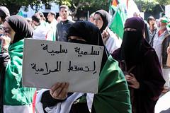 IMG_1651 (marwanouallal) Tags: algeria alger algerie algiers dz peaceful protest manifestation crowd woman women muslim signs pancartes