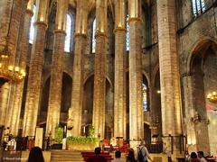 2708  Detalle de Santa María del Mar, Barcelona (Ricard Gabarrús) Tags: iglesia edificio arquitectura capilla columnas catedral santamaríadelmar olympus ricgaba ricardgabarrus