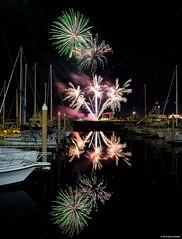 Fireworks Palafox Pensacola Florida (Stuart Schaefer Photography) Tags: fireworks night nightphotography nightshot nightsky longexposure reflections bright sonya7iii