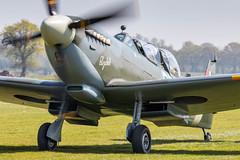 NH341/G-CICK Spitfire T9 (amisbk196) Tags: airfield aircraft headcorn amis flickr 2019 unitedkingdom kent uk lashenden nh341 gcick spitfire t9