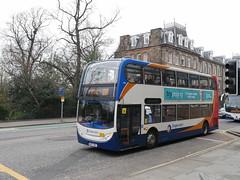 Stagecoach Dennis Trident 2 Alexander Dennis Enviro 400 NK07HBL 19151 operating service X55 to Dunfermline at Queen Street, Edinburgh, on 16 April 2019. (Robin Dickson 1) Tags: stagecoachnortheast busesedinburgh stagecoach dennistrident2 adlenviro400 alexanderdennisenviro400 nk07hbl