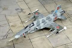 "1:72 Northrop F-5L ""Tiger II""; aircraft ""112 Black"" (s/n 81-26112) of the Latvijas Gaisa spēki (Latvian Air Force, LAF) Fighter Squadron; Lielvārde Air Base, 2010 (Whif/Italeri kit) (dizzyfugu) Tags: 172 northrop f5 f5e f5l tiger ii skoshi latvia air force lielvārde base latvijas gaisa spēki aim9 aim120 sidewinder amraam interceptor baltic sea nato modellbau dizzyfugu whif whatif fictional aviation italeri model kit norm grey"